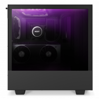 H510-Elite-Black Black system-RTX2080-side-purple lighting