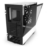 H510-Elite-White Black--no system-rear hinged glass